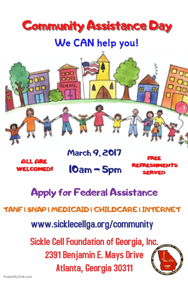 sickle cell foundation of georgia inc community day flyer edit